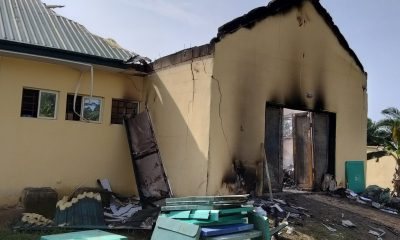 Burnt INEC office