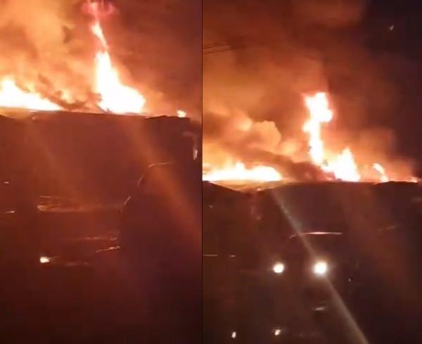 Fire razes 11 shops