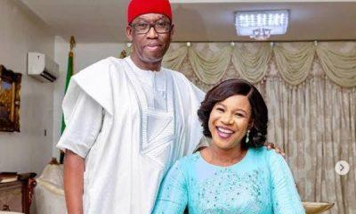Ifeanyi Okowa and his wife