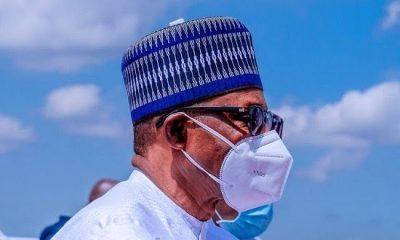 Buhari wears face mask