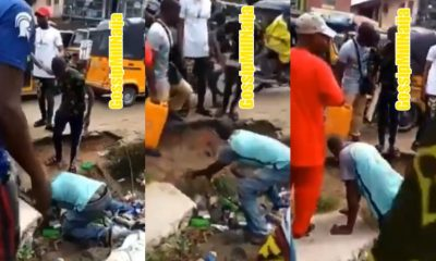 Soldier beat up man in Aba