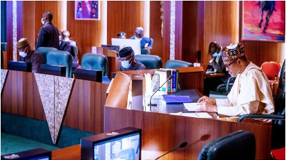 Buhari meeting with APC leaders