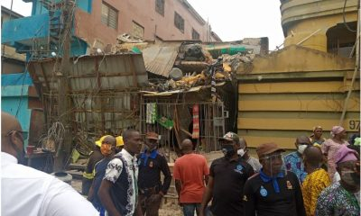 Building collapses in Ebute Metta