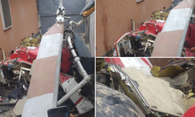 Helicopter crash in Lagos