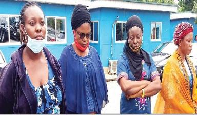 Four women sell newborn