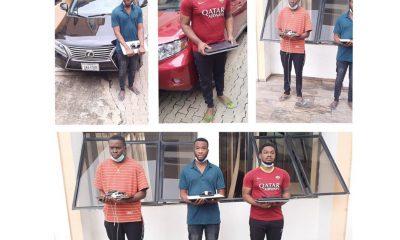 Suspected internet fraudsters