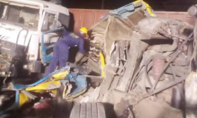 Tanker and trucks collide in Lagos